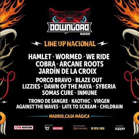 Download Festival 2017 grupos nacionales
