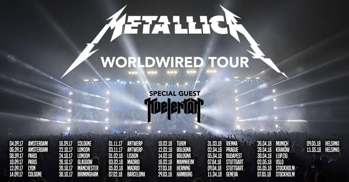metallica gira europea 2017-18