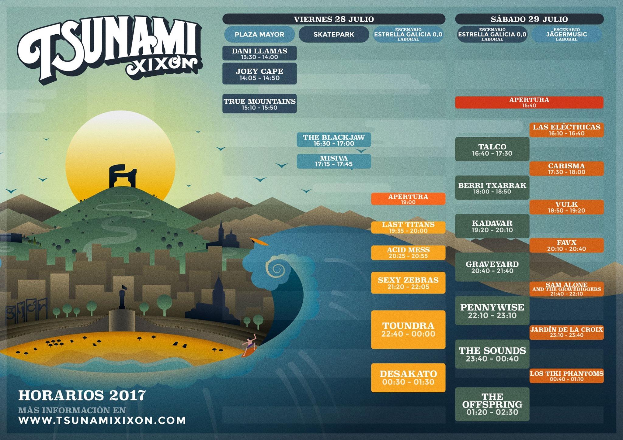 tsunami xixon horarios 2017
