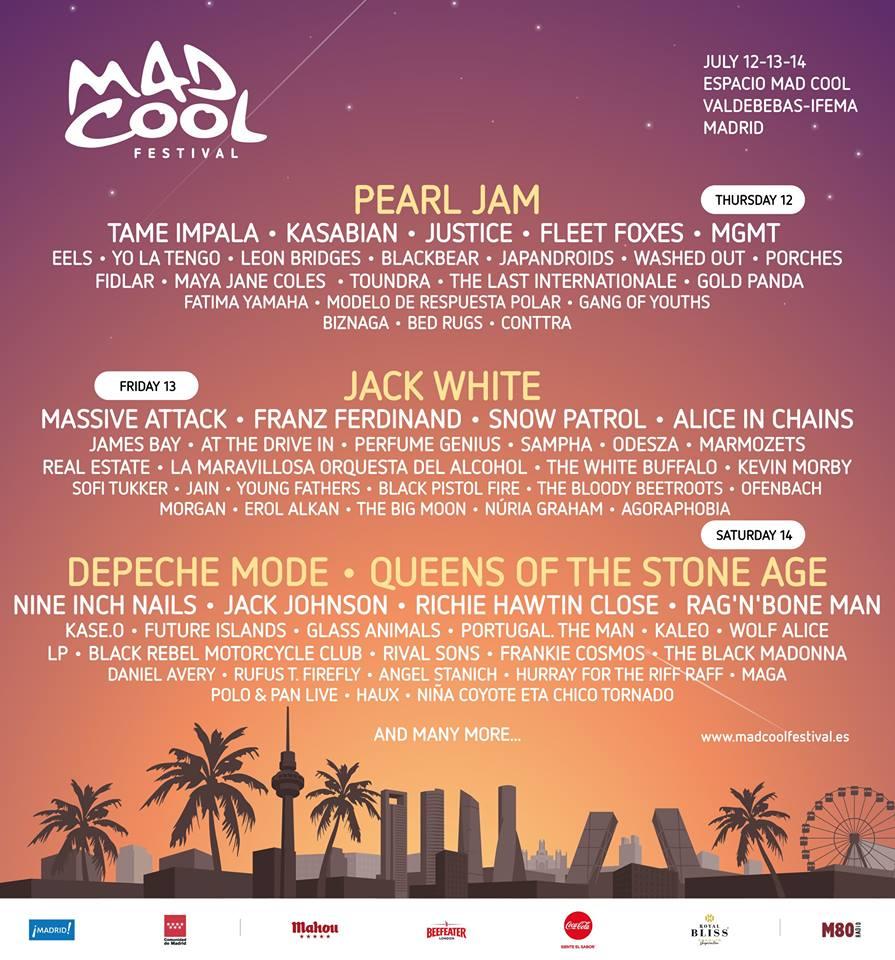 Mad Cool 18 enero