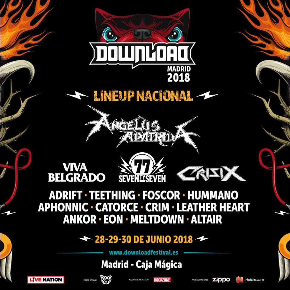 download festival 2018 confirmaciones nacionales