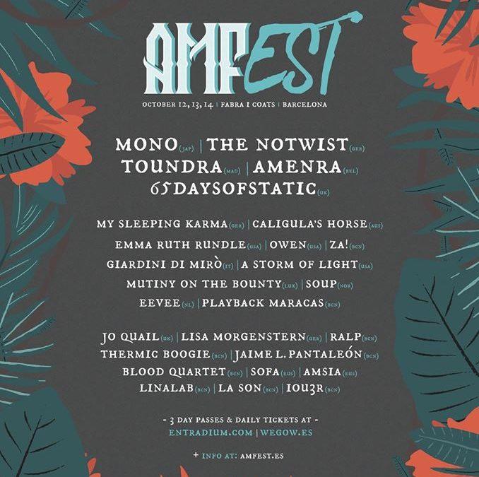 Cartel completo del AMFest 2018