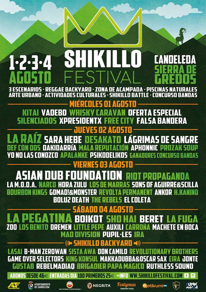shikillo festival 2018 dias