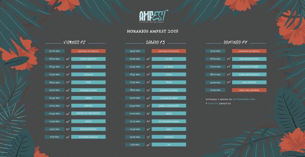 amfest 2018 horarios