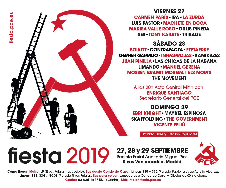 fiesta pce 2019 cartel