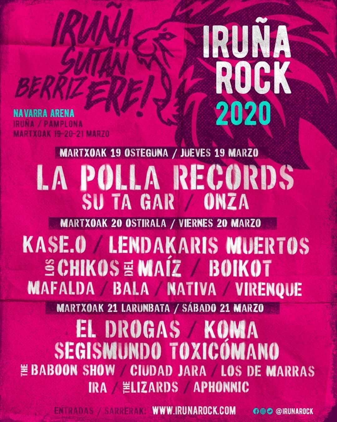 iruña rock 2020 dic2019