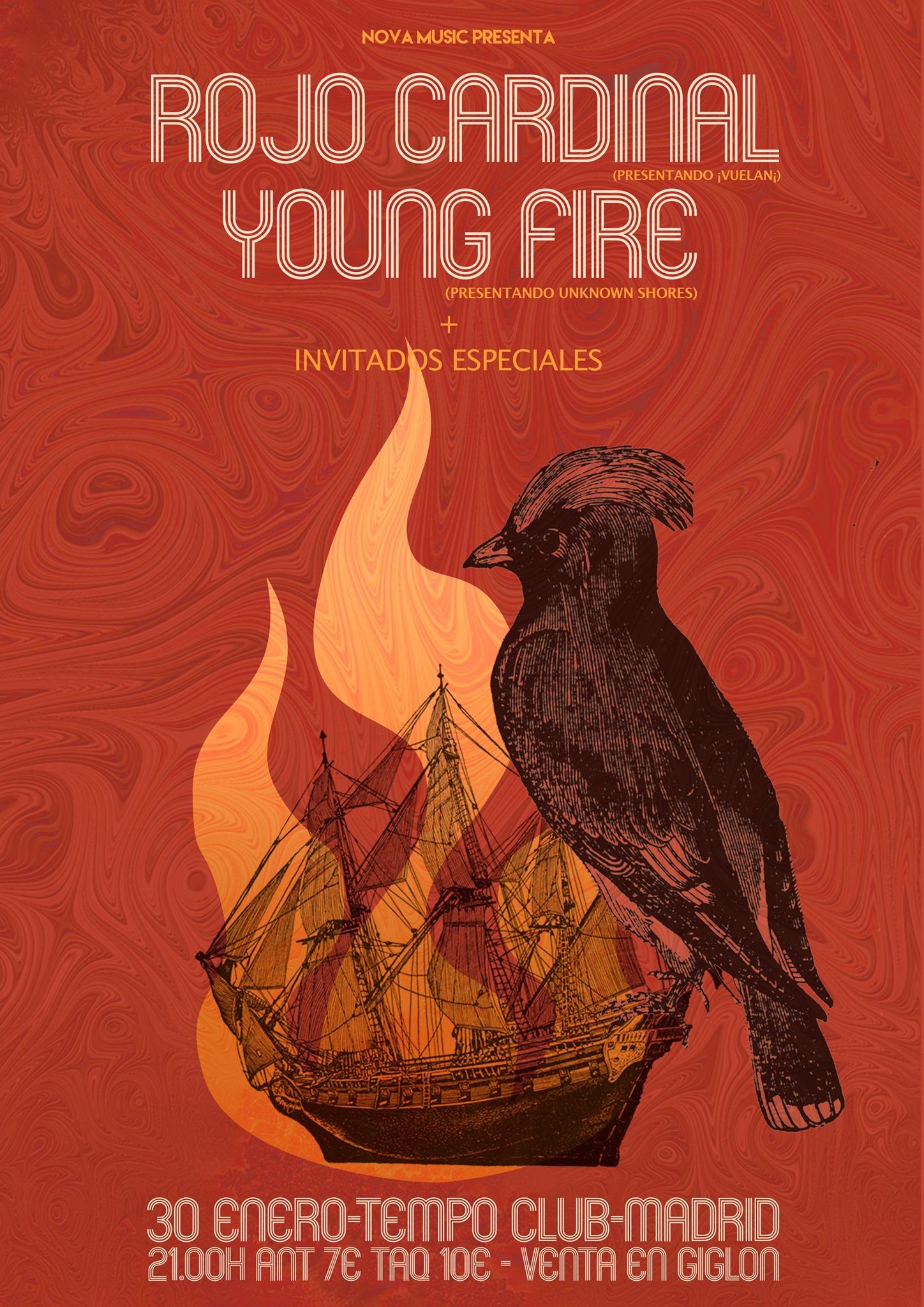 Rojo Cardinal + Young Fire