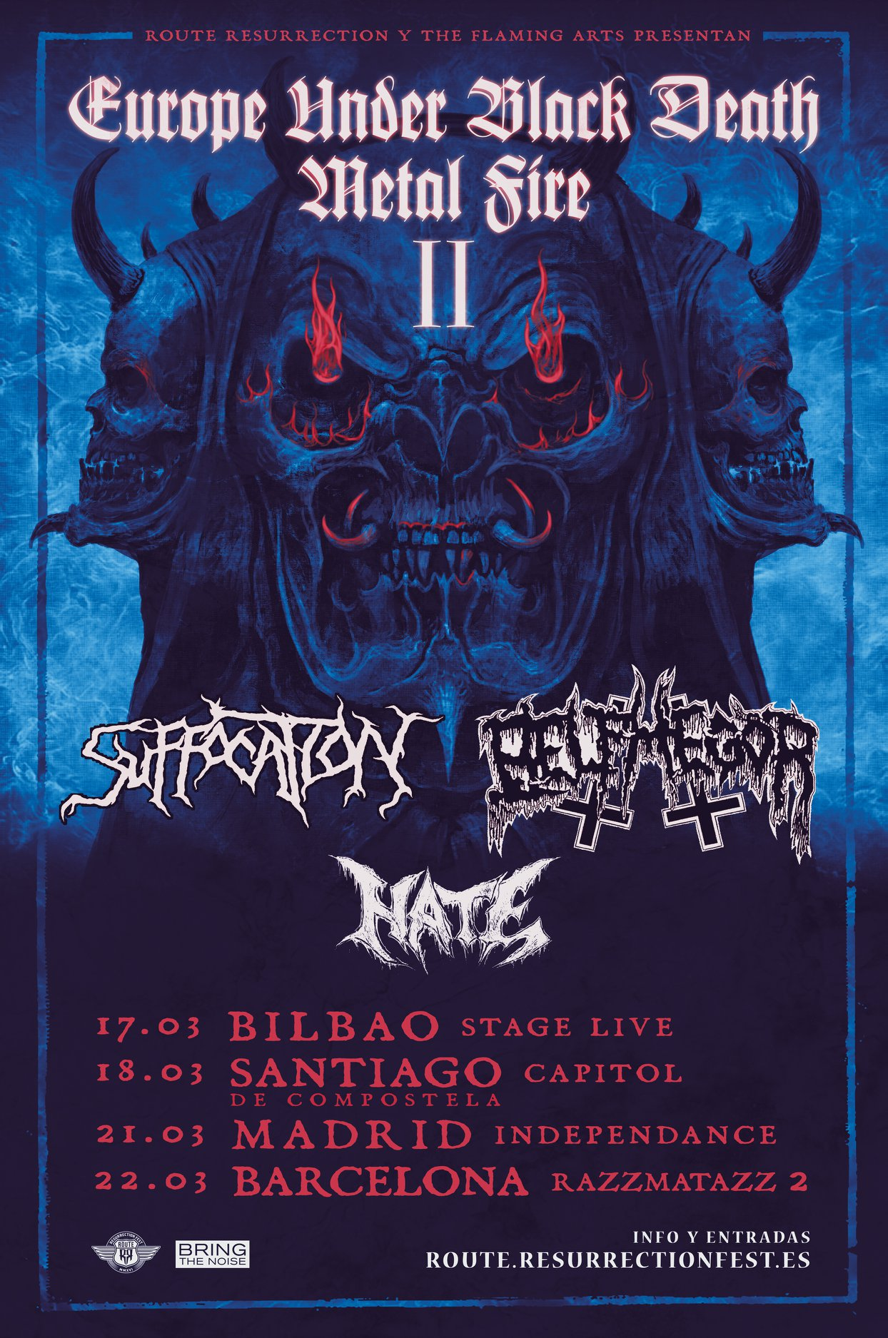 Suffocation + Belphegor + Hate