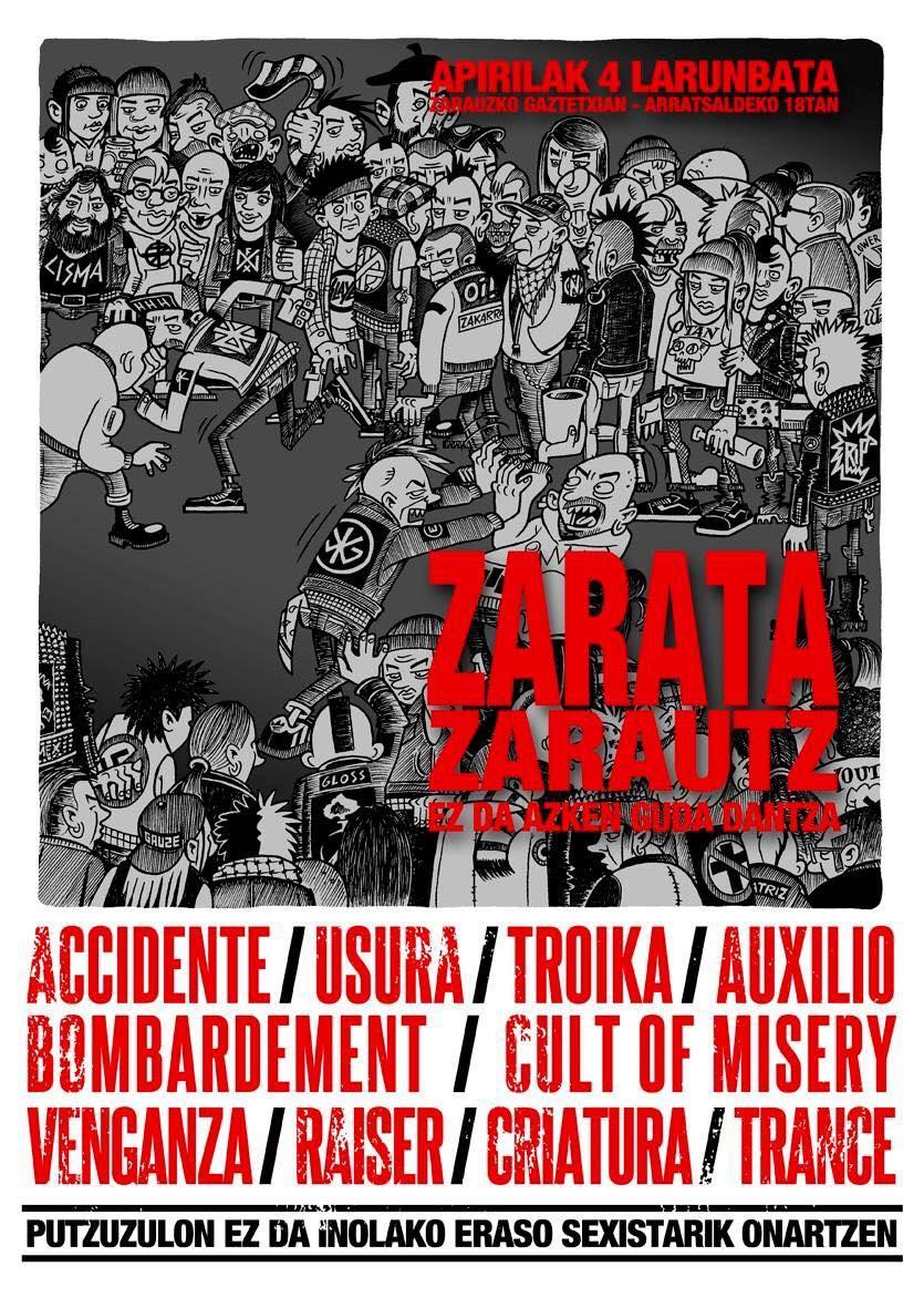Accidente + Usura + Troika + Auxilio + Bombardement + Cult Of Misery + Venganza + Raiser + Criatura + Trance