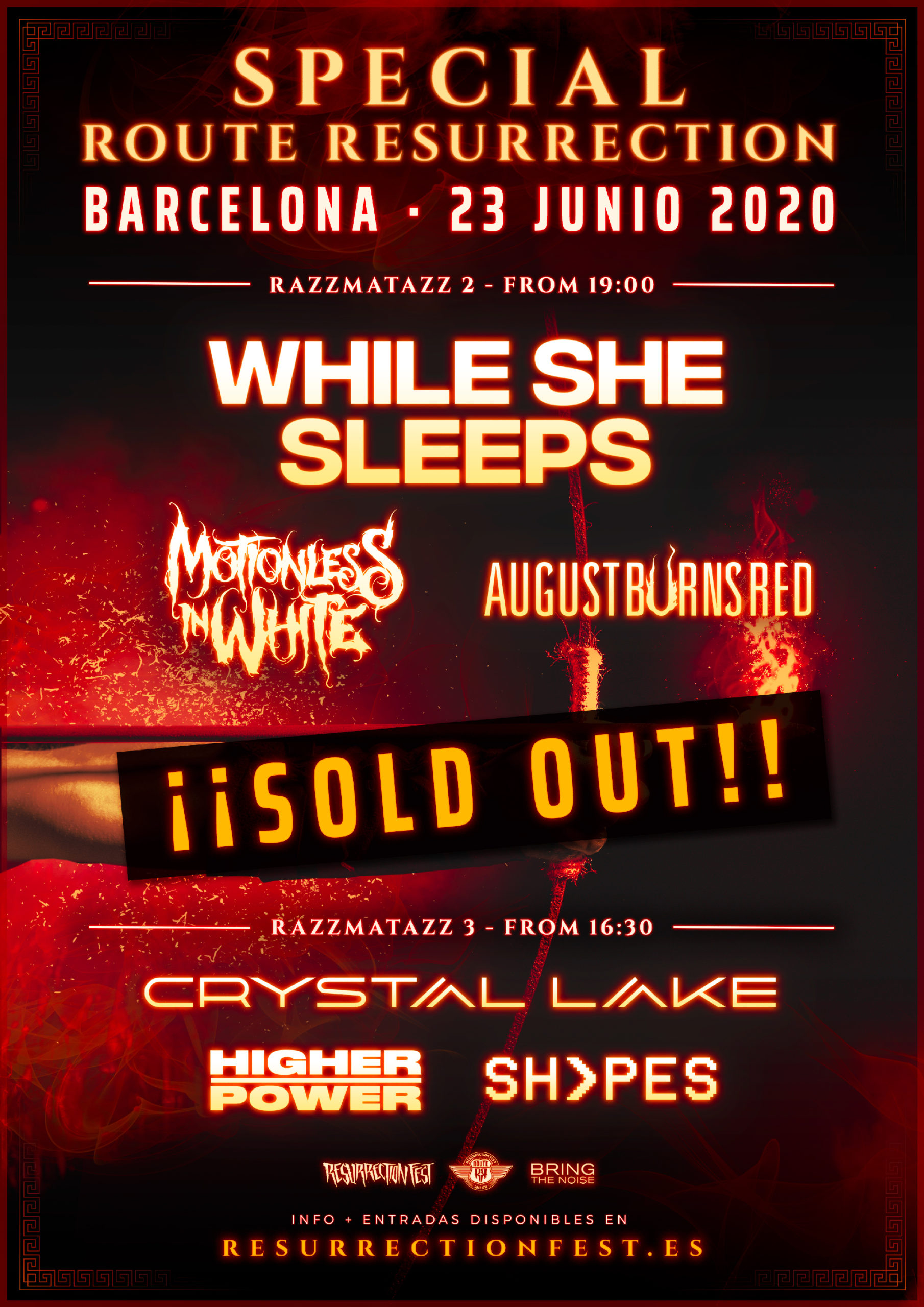 While She Sleeps + Motionless In White + August Burns Red