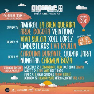 Festival Gigante en Alcalá de Henares
